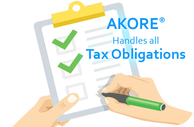 Akore handles all Tax Obligations